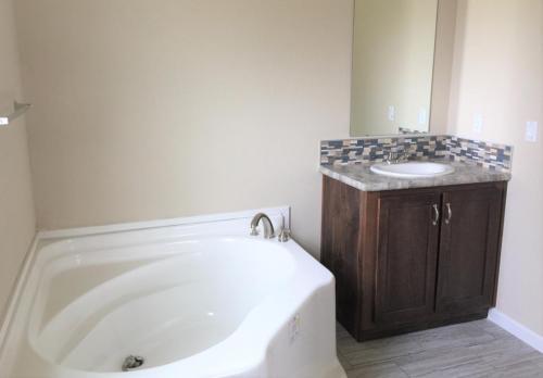 Master Bath with His Vanity and Soak Tub