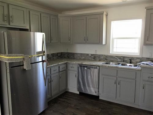 Kitchen with Hardwood Cabinets