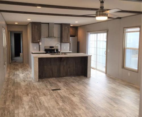 Open Living Room Kitchen