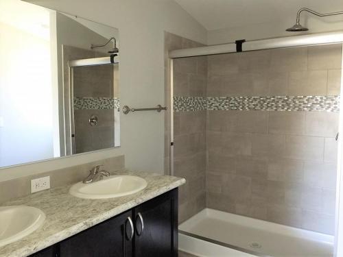 Master Bath Walk-in Shower with Rain Head