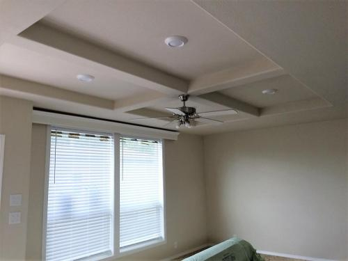 Living Room with tray Ceiling