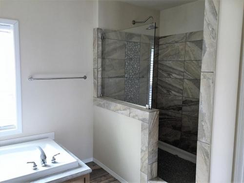 Master Bath Walk-in Shower with Rain Head