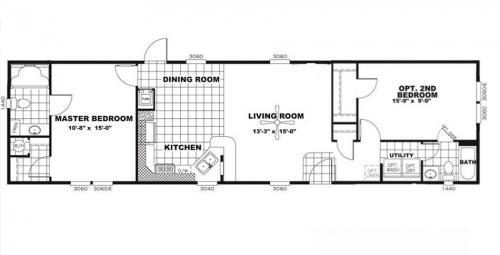 Floor-plan 960sf