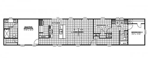 Floor plan CC3011 1280sf