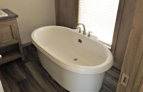 Master Bath with Free Standing Soak Tub